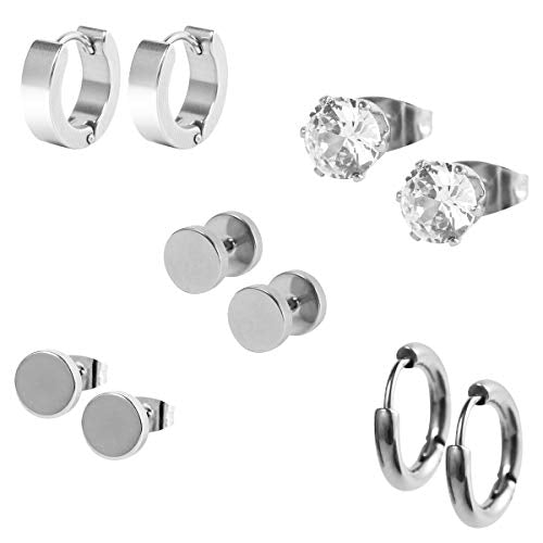 Solid 2 Unisex Earring Set