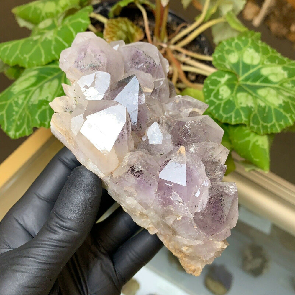 Included Amethyst Cluster with Epidote Crystals and Phantoms from Sichuan, China