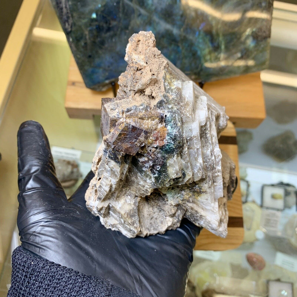 Calcite with Goethite Pseudomorph after Pyrite - Apache Mine New Mexico Minerals