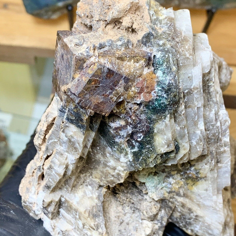 Load image into Gallery viewer, Calcite with Goethite Pseudomorph after Pyrite - Apache Mine New Mexico Minerals