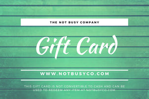 The Not Busy Company Gift Card: Give the Gift of Choice - The Not Busy Company - #product_description#