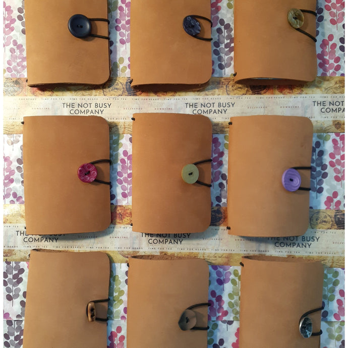 The Watson - Handmade Leather Travellers Notebook - The Not Busy Company - #product_description#