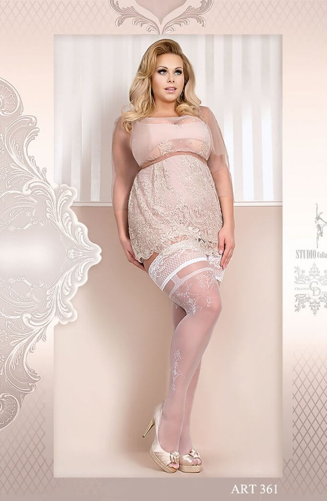 Ballerina Plus Size White Hold Ups