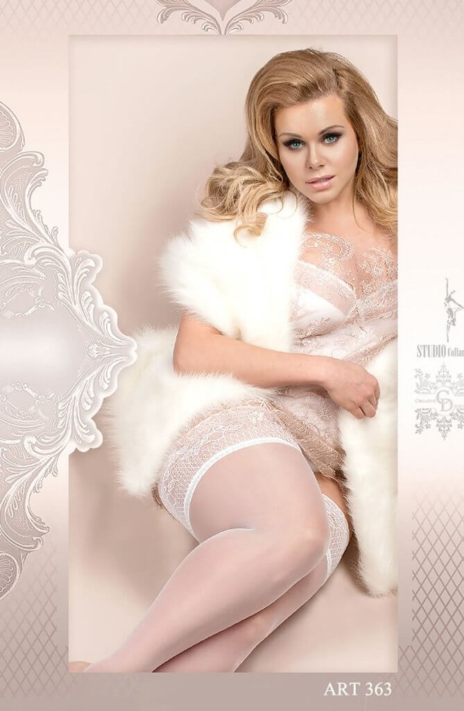 Ballerina Plus Size Plain White Hold Ups