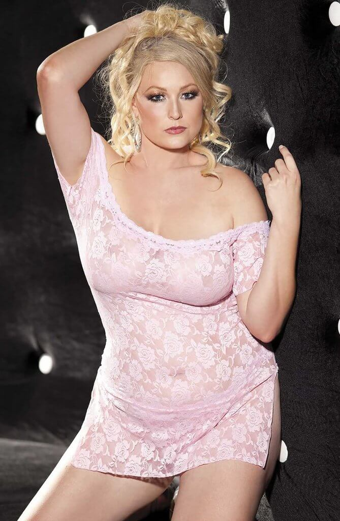 Shirley of Hollywood Plus Size Light Pink Chemise
