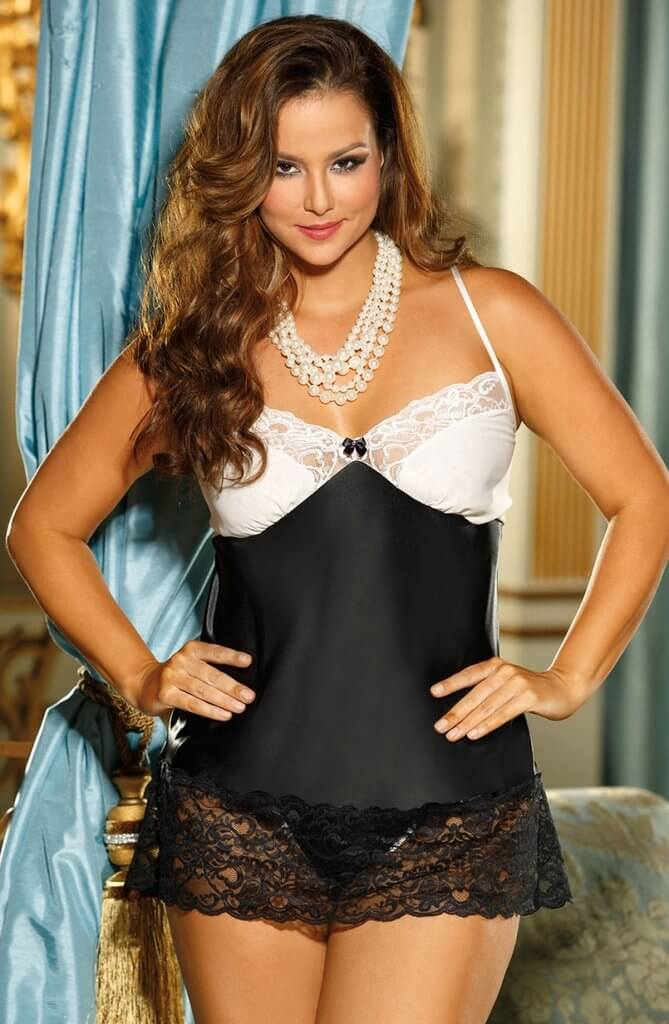 9e7db2665872 Shirley of Hollywood Plus Size Silk Lace Chemise – Living Fantasies
