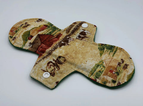 "9"" Farm Moderate Absorbency Cloth Pad"