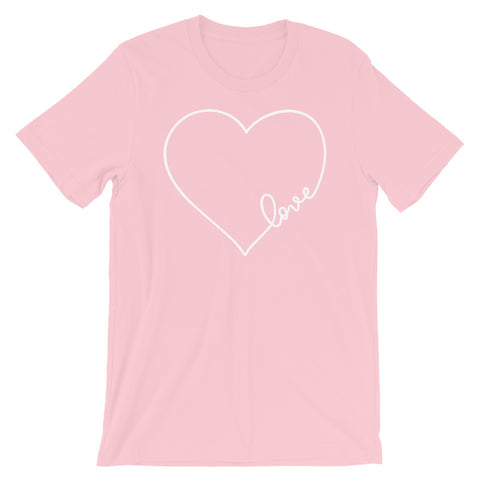 Love Heart Short-Sleeve Unisex T-Shirt