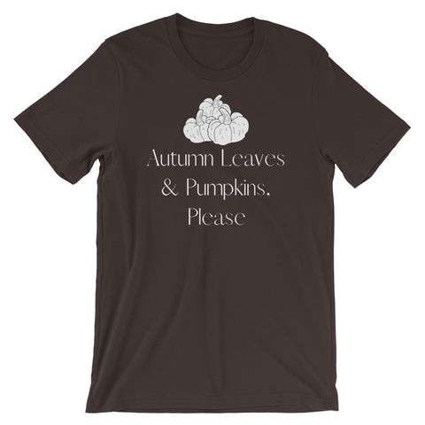 Autumn Leaves & Pumpkins Please Short-Sleeve Unisex T-Shirt
