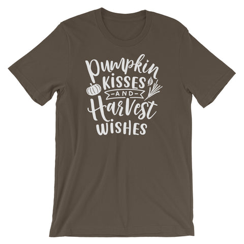 Pumpkin Kisses & Harvest Wishes Short-Sleeve Unisex T-Shirt