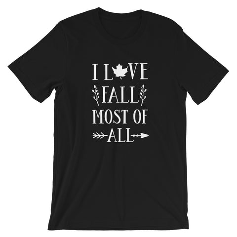 I Love Fall Most Of All Short-Sleeve Unisex T-Shirt