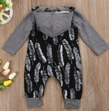 Feather Hooded Bodysuit