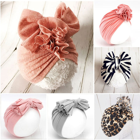 Ruffled Bow Hat