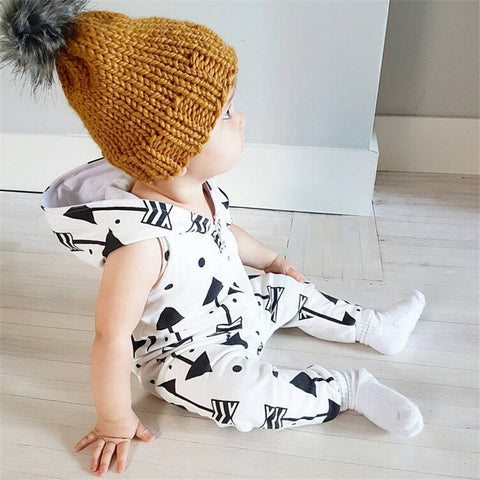 Arrows Hooded Jumpsuit