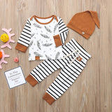 Feather Stripes Three Piece Set