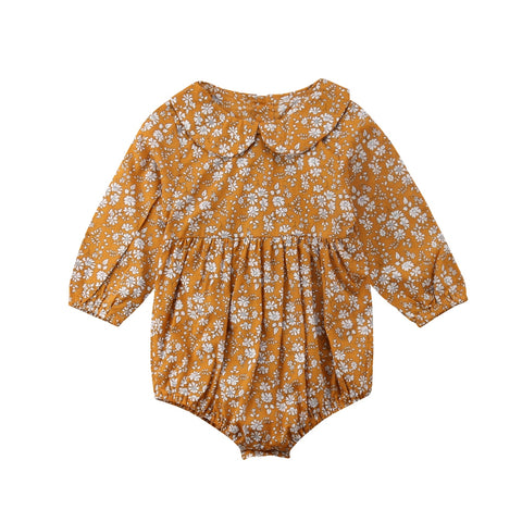 Newborn Baby Girls Clothing Infant Baby Girls Floral Rompers Long Sleeve Autumn Clothes Jumpsuit Playsuit