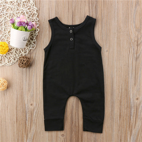 Black Henley Jumpsuit
