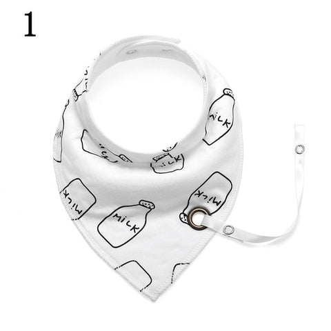 Bandana Bib with Pacifier Tether