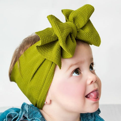 Adjustable Big Bow Headband
