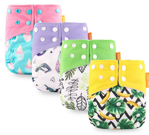 Pocket Style Cloth Diaper with Two Pockets & Double Snap