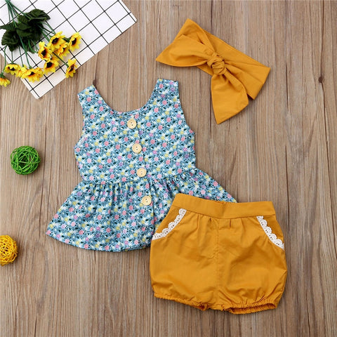 Lorelai Summer Three Piece Set with Headband