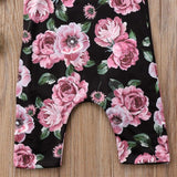 Newborn Infant Kids Baby Girls Toddler Floral Bodysuit Jumpsuit Casual Clothes Outfits