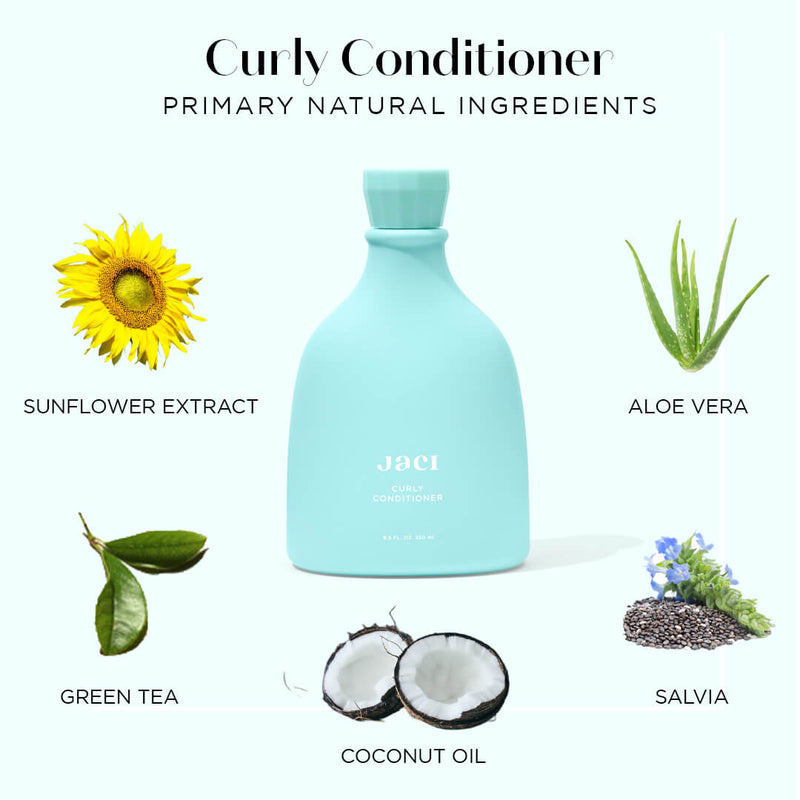 Jaci Curly Conditioner, Aloe Vera, Green Tea, Sunflower, Salvia