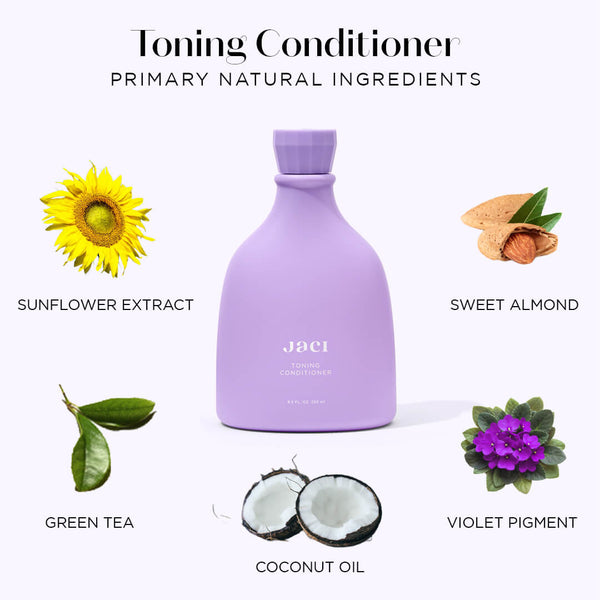 Jaci Toning Conditioner, Coconut Oil, Sweet Almond, Violet Pigment, Green Tea, Sunflower