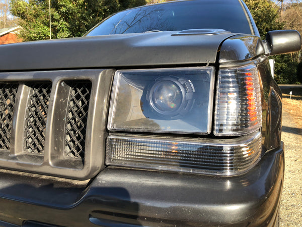 93 - 98 Jeep Grand Cherokee ZJ Projector Retrofit