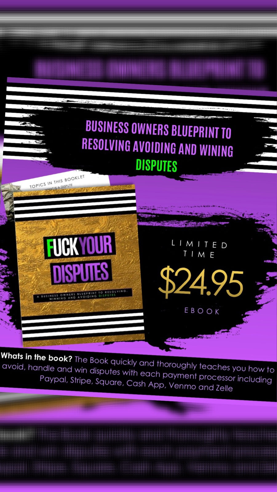 """F$*#YOUR DISPUTE"" E- BOOK ""A GUIDE TO WINNING DISPUTES"""
