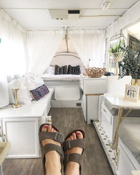 How I renovated my Pop up camper!