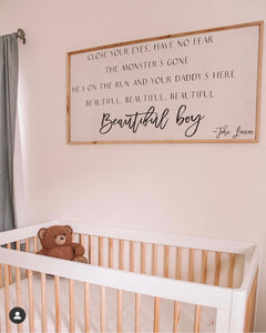Beautiful Boy John Lennon frame quote sign