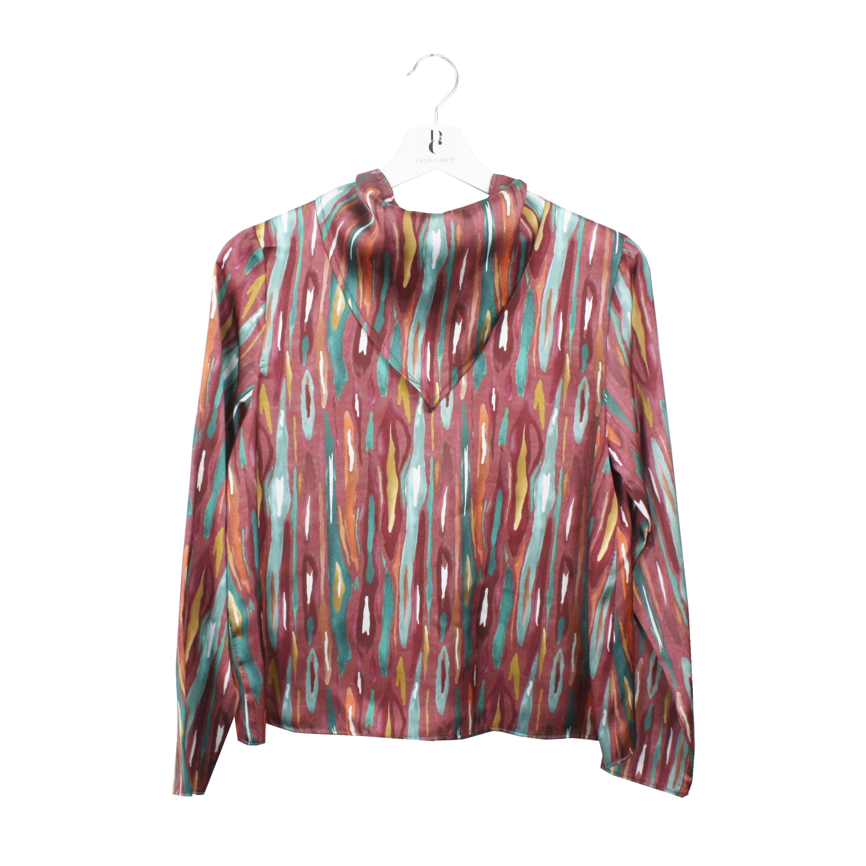Blusa Frida estampado burdeos