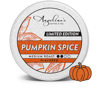 Angelino's Pumpkin Spice flavored coffee