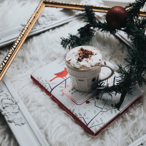 coffee inside holiday picture frame