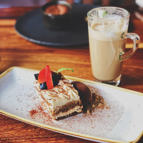 jamaican rum coffee and dessert