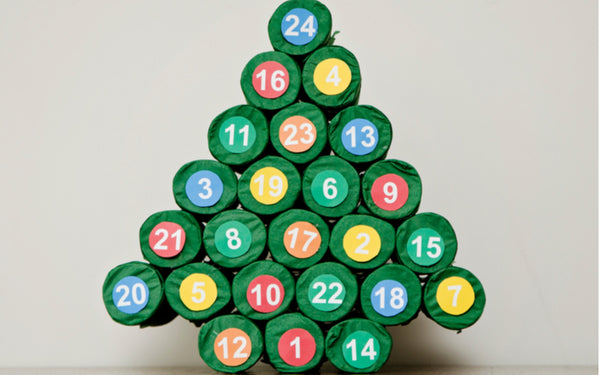 christmas tree made of colorful k-cups