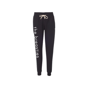 the breasties champion joggers - black