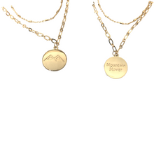 Load image into Gallery viewer, logo layered necklace