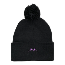 Load image into Gallery viewer, mountains pom beanie - black