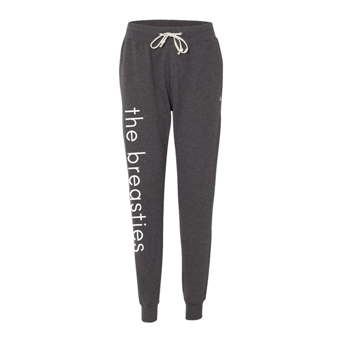 the breasties champion joggers - grey