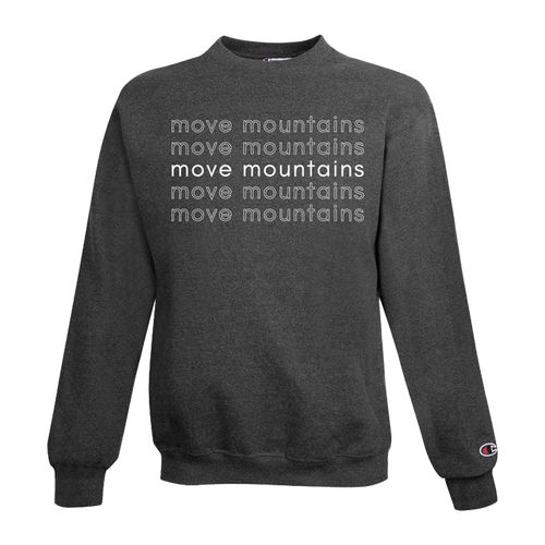move mountains champion crewneck sweatshirt