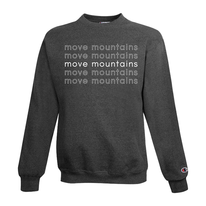 move mountains champion crewneck sweatshirt - grey