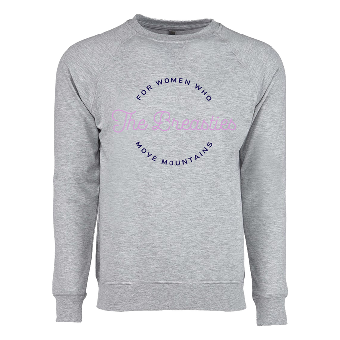 circle text french terry crewneck
