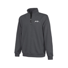 Load image into Gallery viewer, mountains logo embroidered quarter zip
