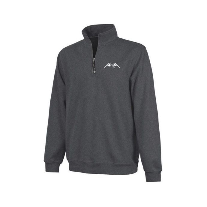 mountains logo embroidered quarter zip
