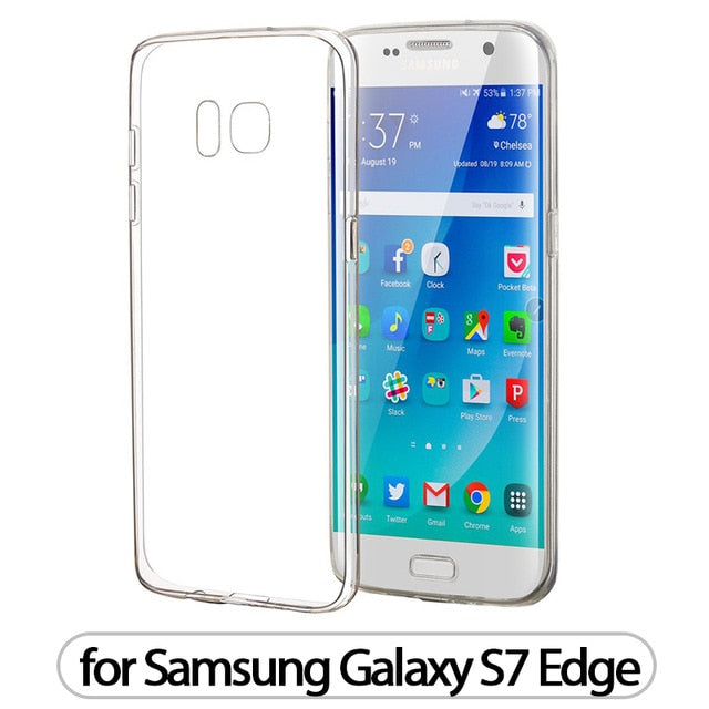 Clear Silicone Soft Case for Samsung Galaxy