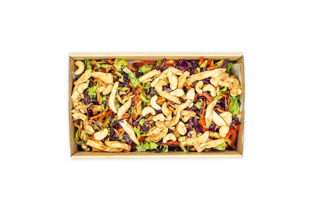 Shredded Chicken & Asian Slaw Salad - A Gourmet Plate