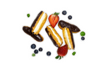 Mini Chocolate Eclairs - A Gourmet Plate