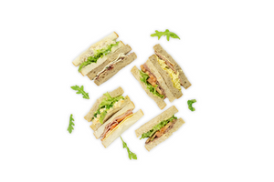 Standard Triangle Sandwiches - A Gourmet Plate